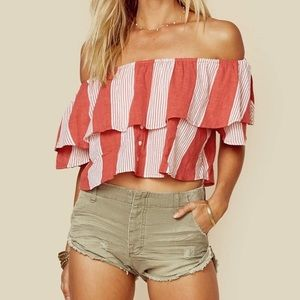 Faithful The Brand Salerno Top Picnic Stripe Sz S